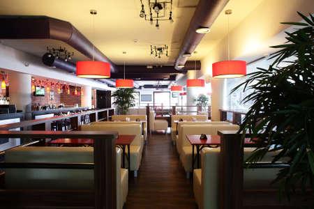 Foto de beautiful brand new european restaurant in downtown - Imagen libre de derechos