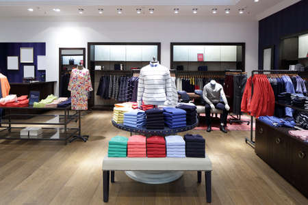 Photo for luxury and fashionable brand new interior of cloth store - Royalty Free Image