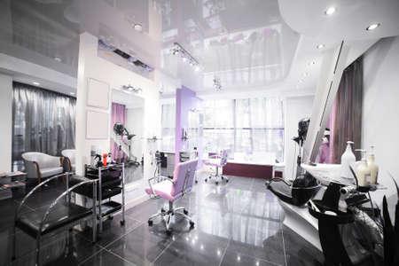 Foto de brand new interior of european beauty salon - Imagen libre de derechos