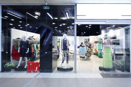 Photo for bright and fashionable window of modern european store - Royalty Free Image