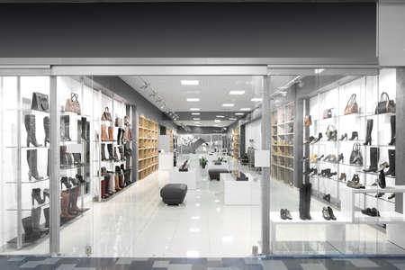 Foto de bright and fashionable window of modern european store - Imagen libre de derechos