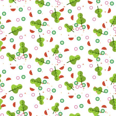 Salad vector seamless pattern.