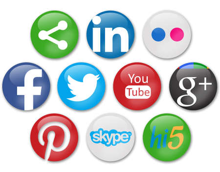 Photo pour social networks signs - image libre de droit