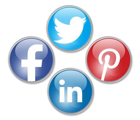 Photo pour social network signs - image libre de droit