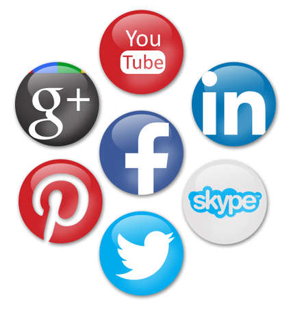 Photo pour social network signs - image libre de droit