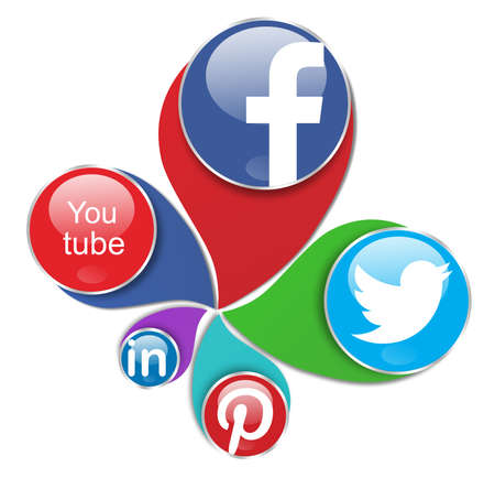 Photo pour social networks,facebook,you tube,twitter,pinterest and linkedin - image libre de droit