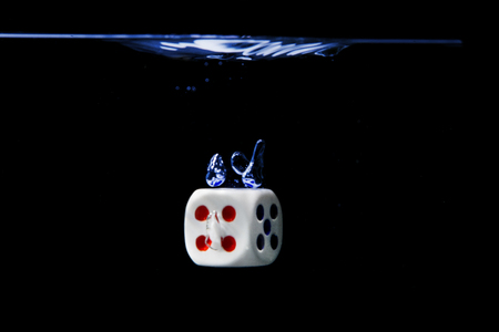 Photo for Dice on water - Royalty Free Image