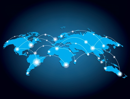 Global network design illustration