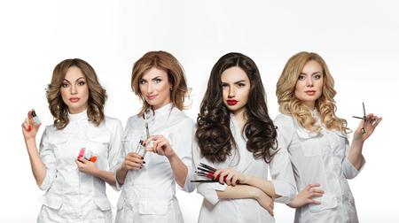 Photo pour Beauty salon workers with professional tools - image libre de droit