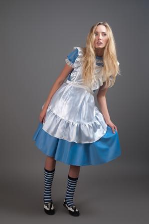 Foto de Young pretty girl in fairy-tale dress - Imagen libre de derechos