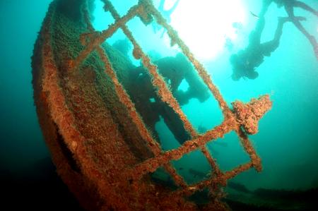Foto de Back Sea wreck - Imagen libre de derechos