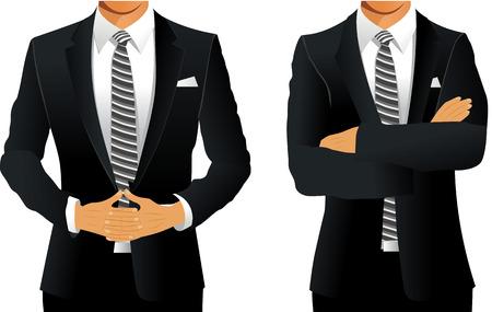 Illustration pour A man in a business suit - image libre de droit