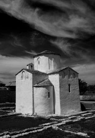 Croatia, city of Nin. This is told to be the world\'s smallest cathedral, build in the city Nin in Croatia, around year 800. It was the seat of Bishop Greogory. Nin is a beautiful old and quite small city at the west coast of Croatia.