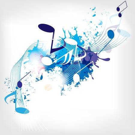 Illustration pour abstract musical background with notes - image libre de droit