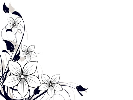 Illustration for Floral spring element with swirls - Royalty Free Image