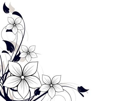 Ilustración de Floral spring element with swirls - Imagen libre de derechos