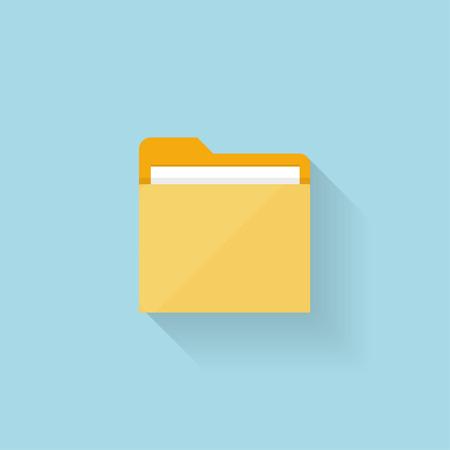 Illustration pour Flat folder icon for web - image libre de droit