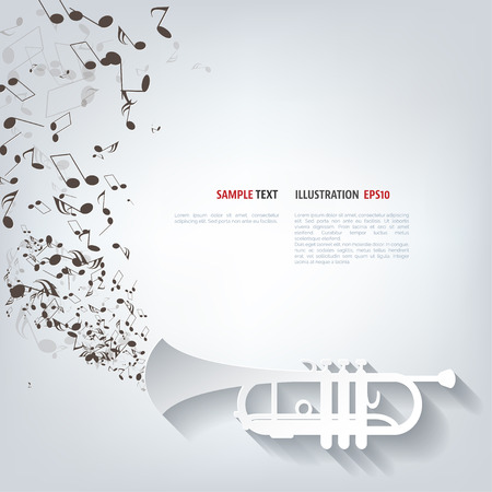 Illustration for Music wind instruments icon - Royalty Free Image