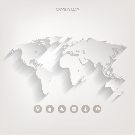 Illustration pour World map concept. - image libre de droit