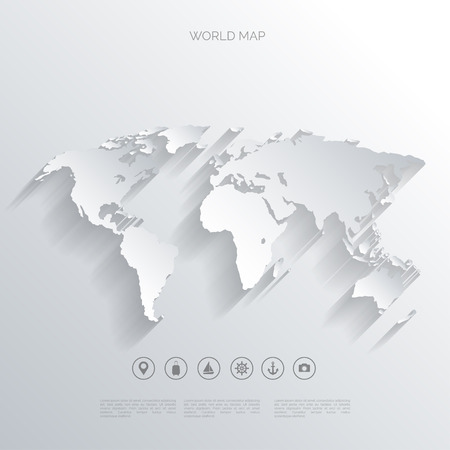 Illustration pour World map concept. - image libre de droit