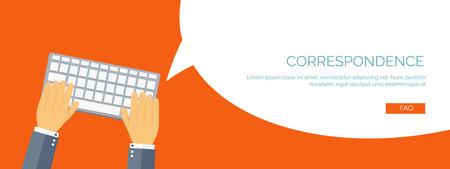 Foto de Vector illustration.  Global communication. Social network and chatting. Emailing and sms. Web calls. Internet.Smartphone. - Imagen libre de derechos
