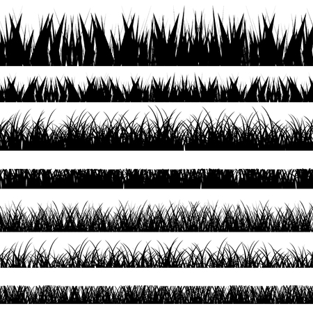 Illustration pour Vector illustration. Set with realistica grass. Nature. - image libre de droit
