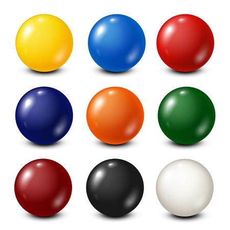 Illustration pour Lottery, billiard,pool balls collection. Snooker. White background. Vector illustration. - image libre de droit