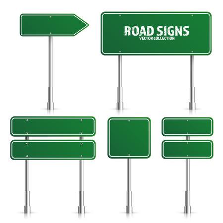 Illustration for Road green traffic sign illustration. - Royalty Free Image