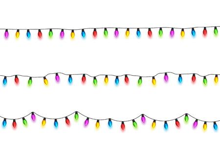 Illustration pour Christmas glowing lights design element. - image libre de droit