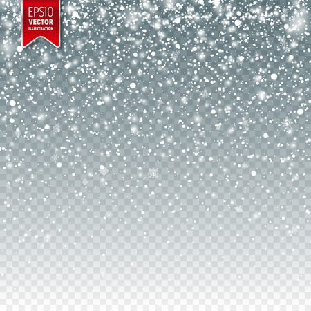 Illustration pour Snow with snowflakes template design. - image libre de droit
