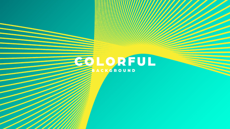 Illustration pour Modern minimal colorful abstract background, lines and geometric shapes design with gradient color. Vector illustration - image libre de droit