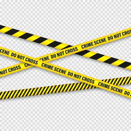 Ilustración de Yellow And Black Barricade Construction Tape. - Imagen libre de derechos