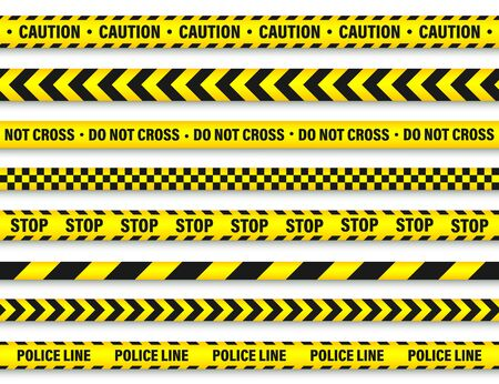 Illustration for Yellow And Black Barricade Construction Tape. - Royalty Free Image