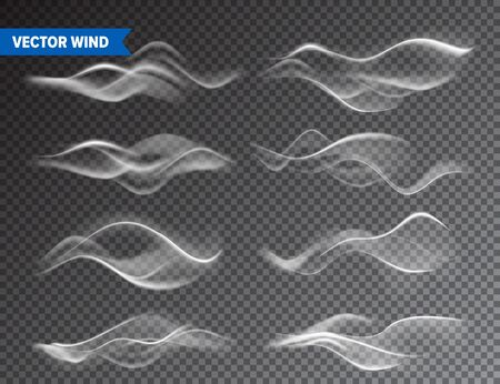 Illustration for Realistic Wind Set on Transparent - Royalty Free Image