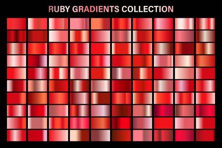 Ilustración de Red ruby glossy gradient, metal foil texture. - Imagen libre de derechos