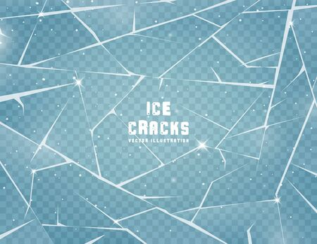 Illustration for Realistic cracked ice surface. - Royalty Free Image