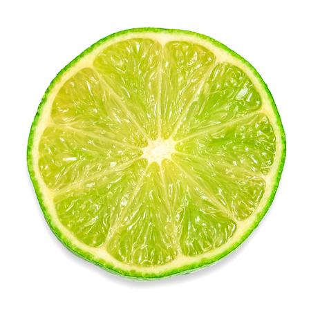 Foto de Half of the fruit of lime isolated on white background - Imagen libre de derechos