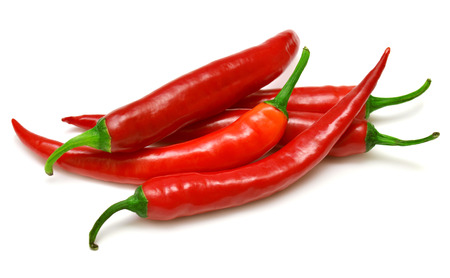 Photo for Red chili peppers isolated on a white background - Royalty Free Image
