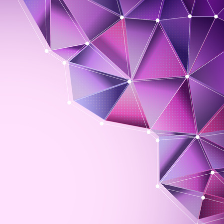 Foto de abstract purple background with polygonal design - Imagen libre de derechos