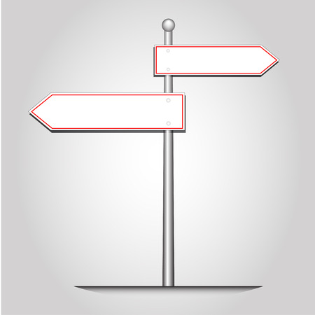 Ilustración de Abstract guidepost selection ,vector and illustration - Imagen libre de derechos