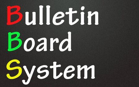Photo pour bulletin board system title  - image libre de droit