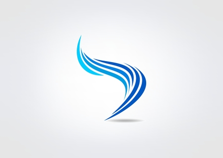 Illustration for blue swirl corporate  vector logo design - Royalty Free Image