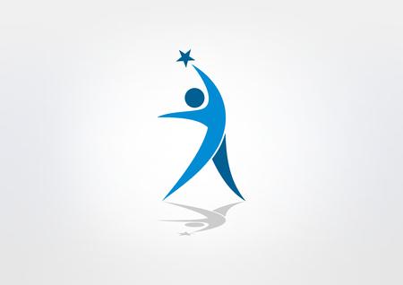 Illustration pour star success healthy body  icon - image libre de droit