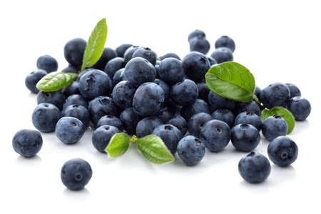 Photo pour Blueberry antioxidant superfood isolated on white - image libre de droit
