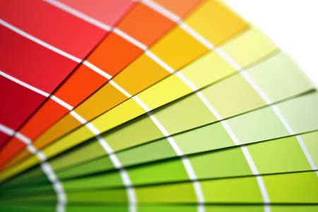 Photo pour Colour sample chart close up - image libre de droit
