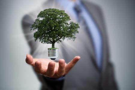 Photo pour Sustainable resources, renewable energy and environmental conservation concept - image libre de droit