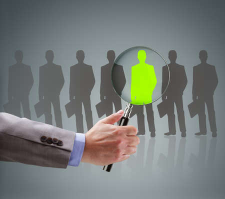 Photo pour Recruitment and job search concept for choosing the right people and human resources - image libre de droit