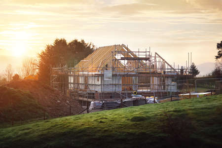 Photo for Home under construction on a building site - Royalty Free Image