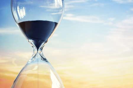 Foto de Hourglass at sunset with copy space - Imagen libre de derechos