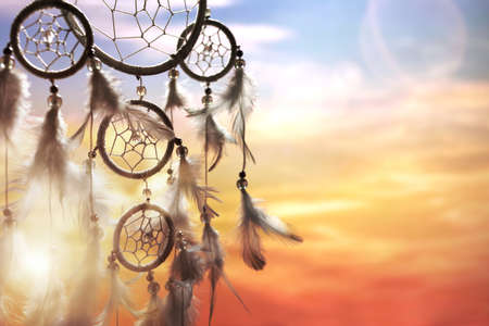 Photo for Dreamcatcher at sunset with copy space - Royalty Free Image